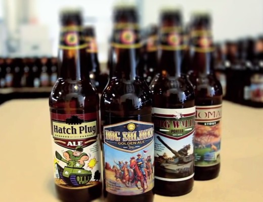 Cavalry Brewing bottles and label art