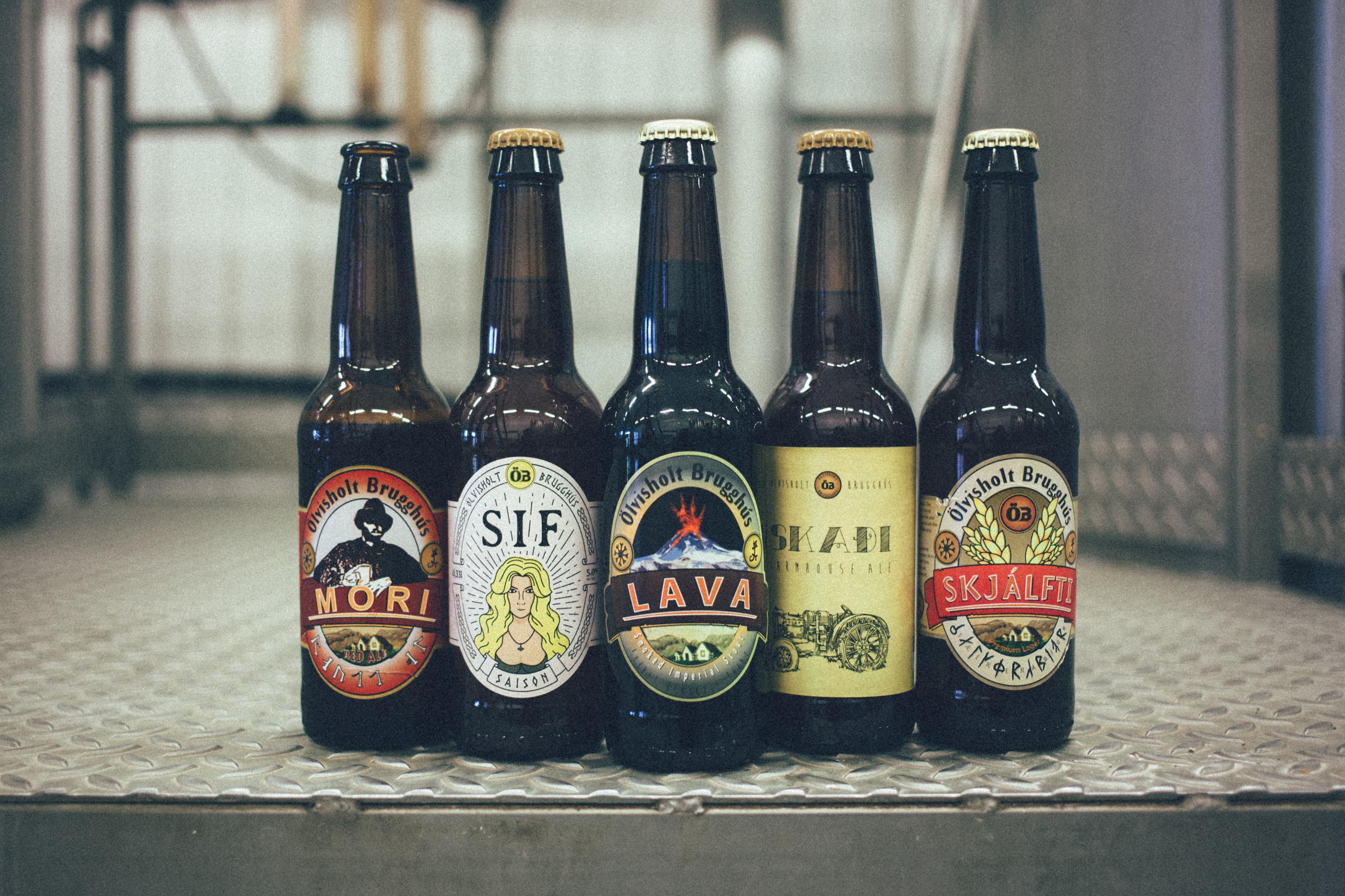 Olvisholt Brewery beer portfolio