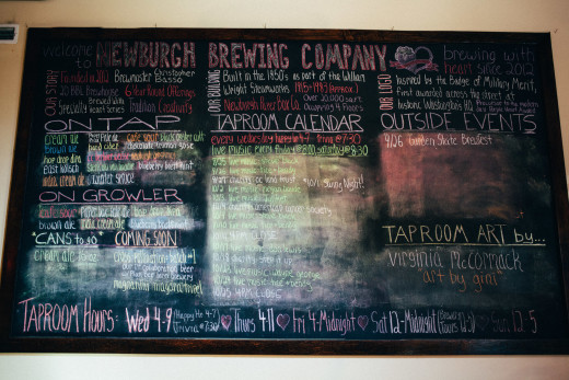 Newburgh Brewing Company tap list