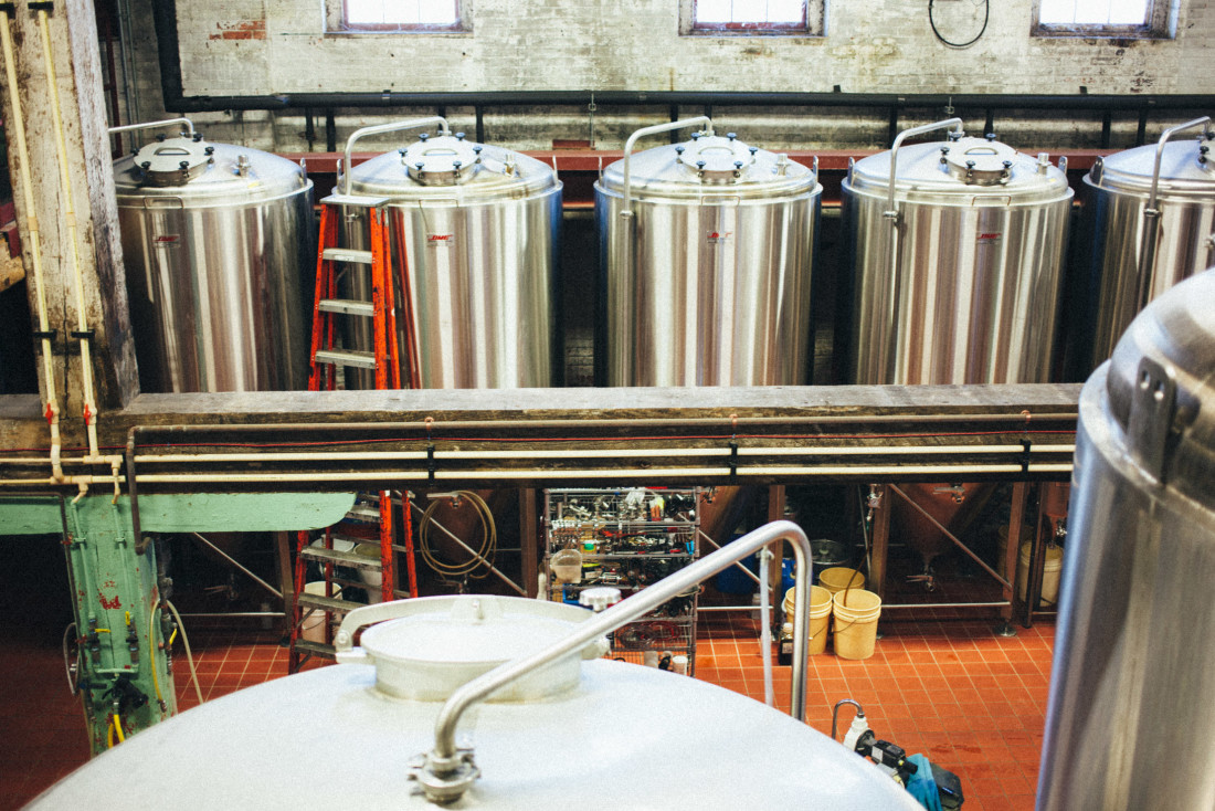 Newburgh Brewing Company fermentation tanks
