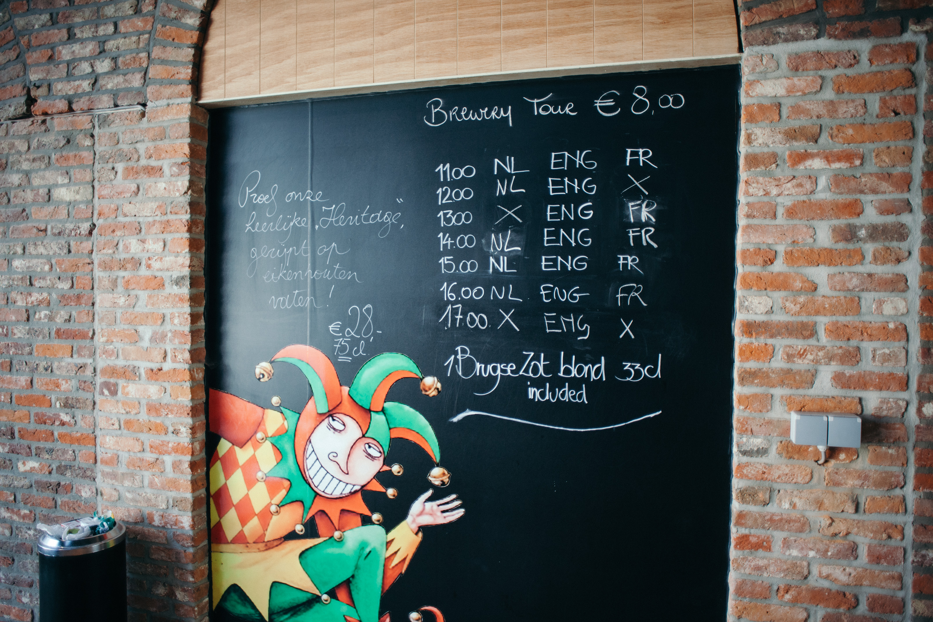 Brewery De Halve Maan tour sign