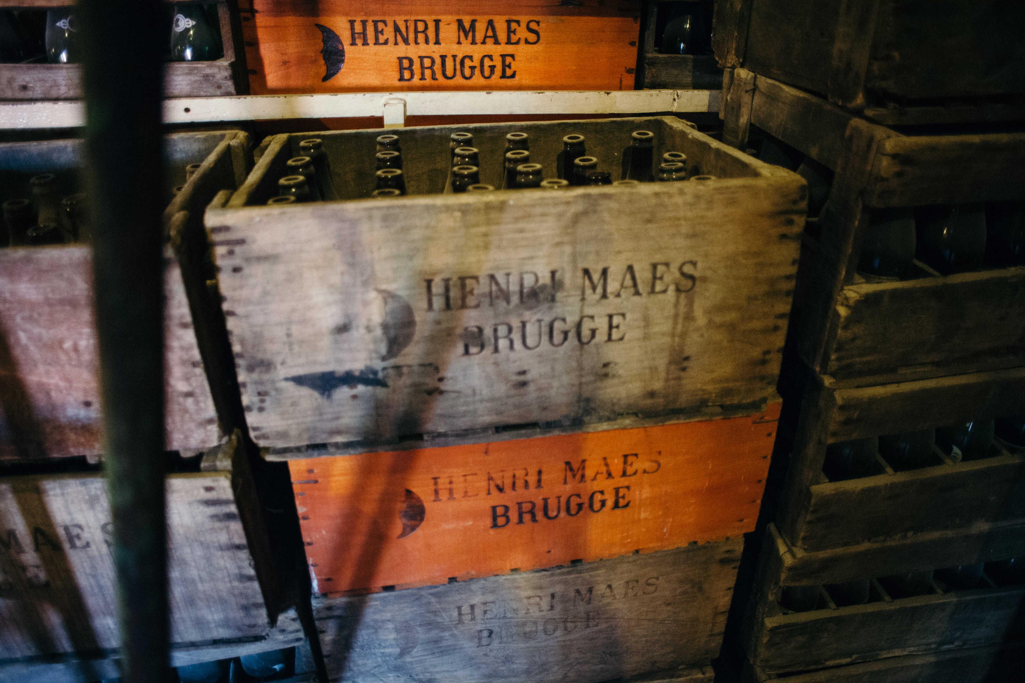 Henri Maes Brugge crates and bottles