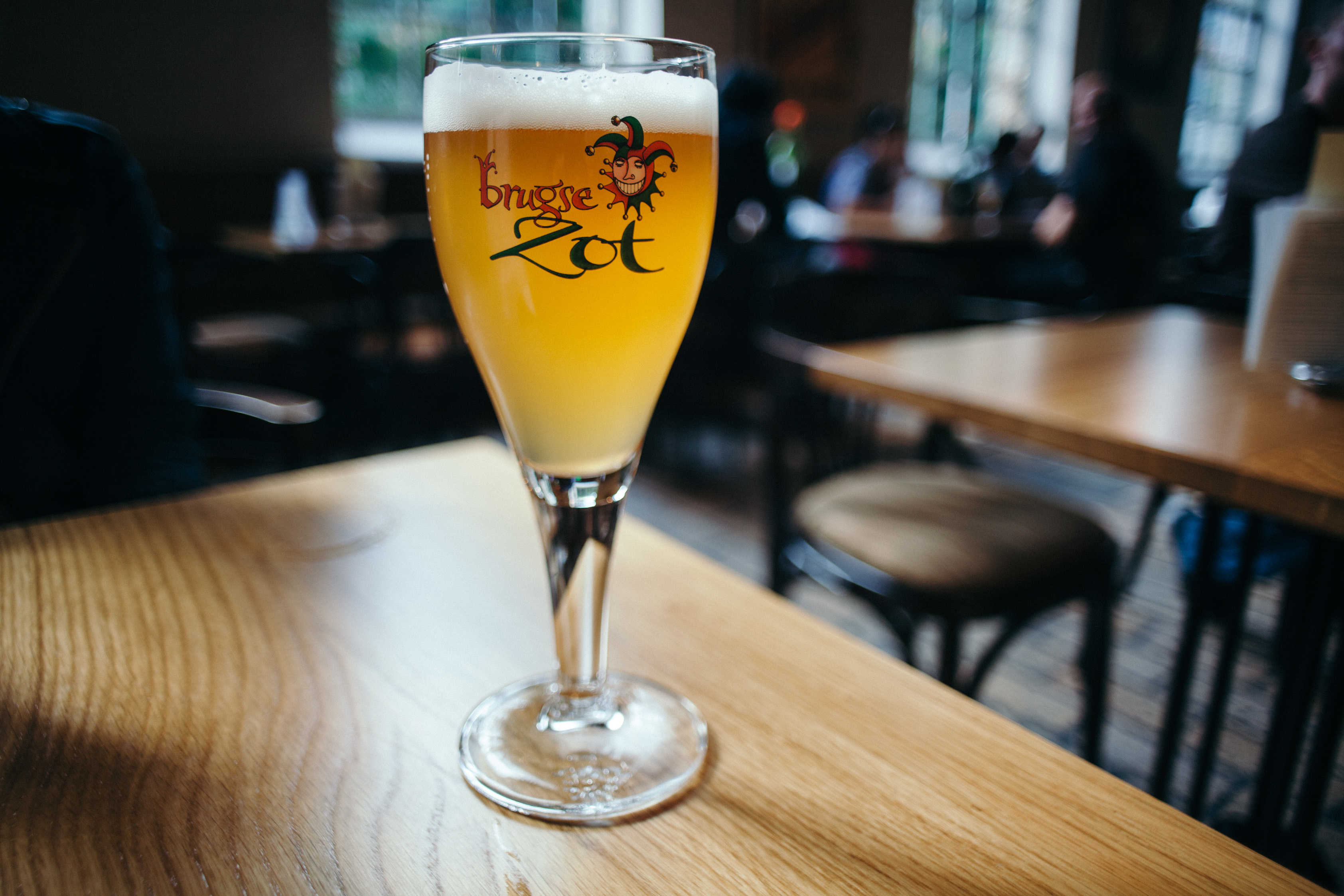 Brugse Zot glass of beer