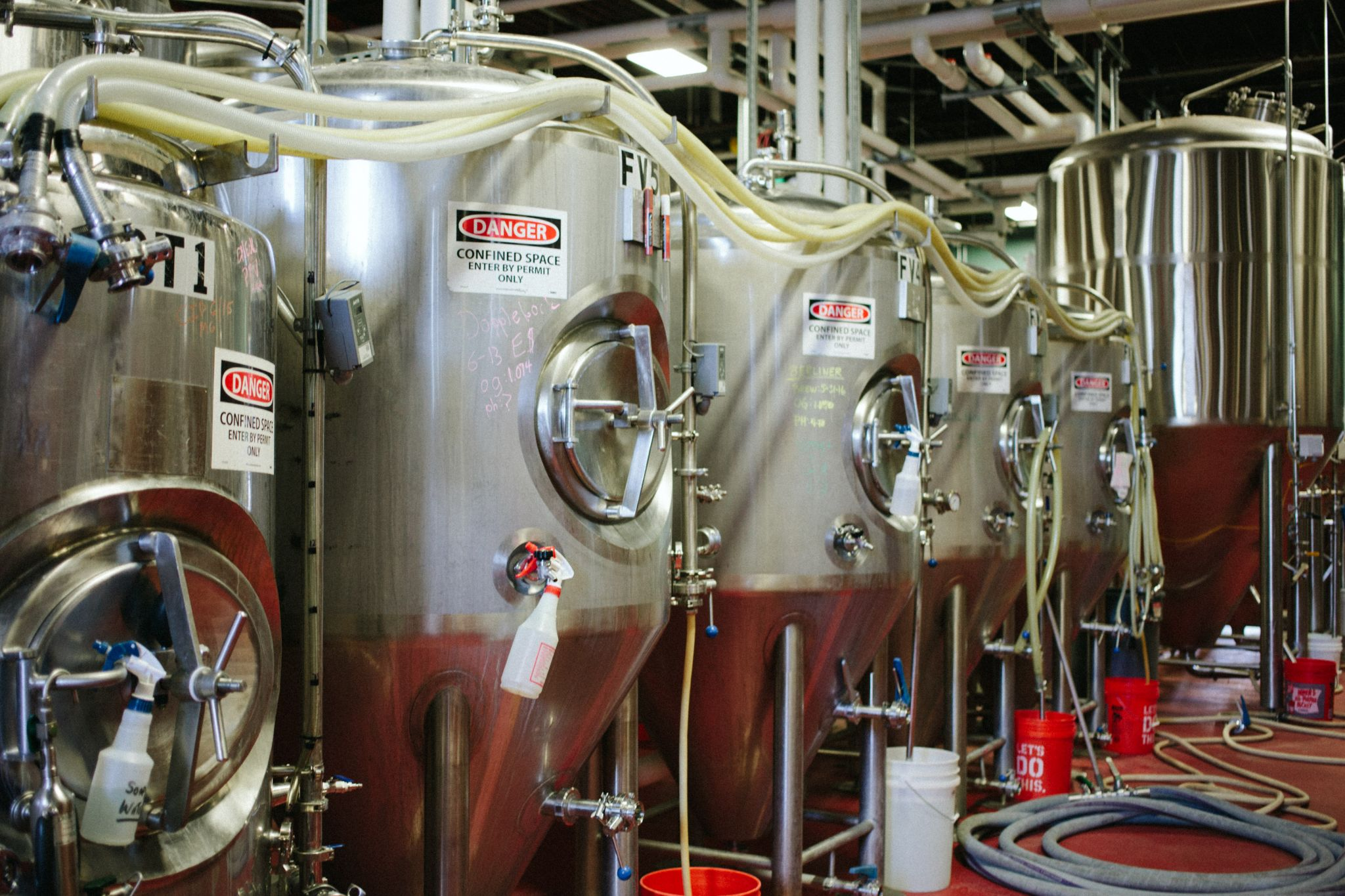 Night Shift Brewing Fermenters