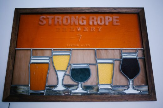 Strong Rope stained glass art